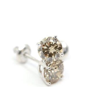 2.24 Carat Diamond Earrings 18k white Gold